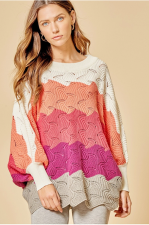 We've Got Each Other Sweater - Coral