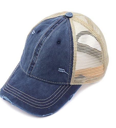 CC Brand - Washed Mesh Back Classic Ball Cap - Navy