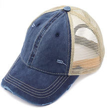 Load image into Gallery viewer, CC Brand - Washed Mesh Back Classic Ball Cap - Navy