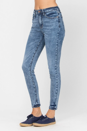 Judy Blue High Waist Acid Wash Skinny Jeans