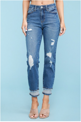 Judy Blue High Rise Distressed Hidden Hem