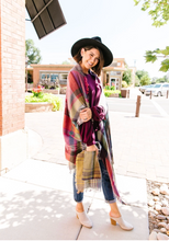 Load image into Gallery viewer, Plaid Perfection Poncho