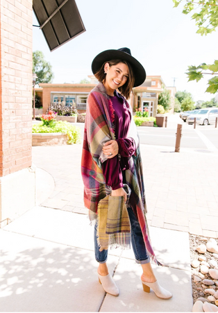 Plaid Perfection Poncho