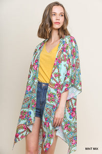 Locked In Time Kimono - Mint