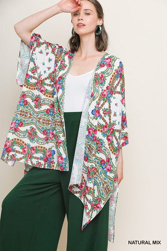 Locked In Time Kimono - Natural