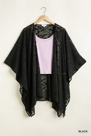 Floating Away Kimono - Black