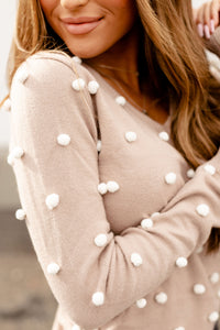Ampersand Avenue Sweater - The Taylor - Nude