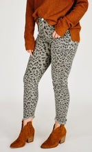 Load image into Gallery viewer, KanCan Animal Print Skinny Jean - Grey