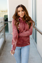 Load image into Gallery viewer, Ampersand Avenue Halfzip Hoodie Berry Tie Dye