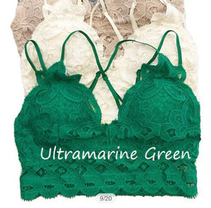 This is Love Lace Bralette - Ultramarine Green