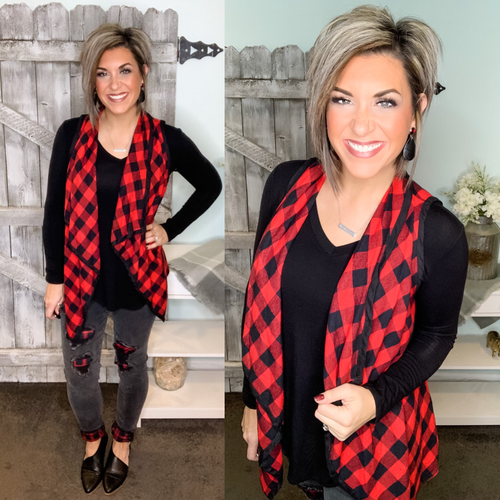 Feel The Same Buffalo Plaid Vest