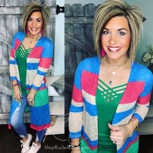 Load image into Gallery viewer, Life's a Party Striped Cardi