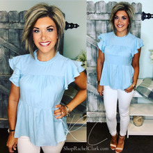 Load image into Gallery viewer, Blue Skies Ahead Blouse