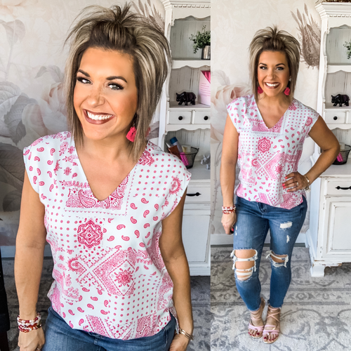 Dance With Me Boy Paisley Blouse