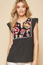 Load image into Gallery viewer, Spot You From Here Dot Print Blouse - Black