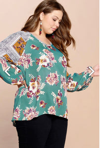 Everyday is a Dream Blouse - Teal