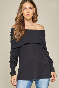 Over The Edge Top - Black