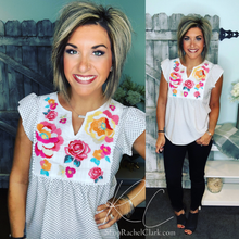 Load image into Gallery viewer, Spot You From Here Dot Print Blouse - Ivory