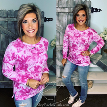 Load image into Gallery viewer, Lovely Afternoon Tie Dye Pullover - Magenta
