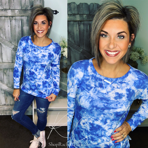 Lovely Afternoon Tie Dye Pullover - Navy