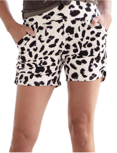 Blissfully Yours Harem Shorts - Snow Leopard