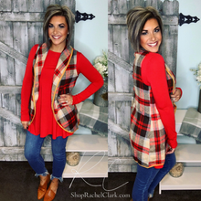 Load image into Gallery viewer, Long Sleeve Swing Tee with Pockets - Red Ruby