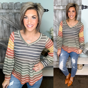 My Soul Mate Striped Pullover