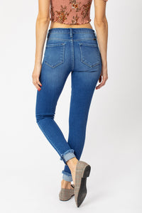KanCan Mid Rise Cuffed Ankle Skinny