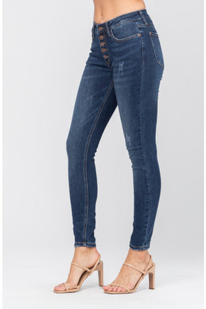 Judy Blue High Rise Button Fly Skinnies
