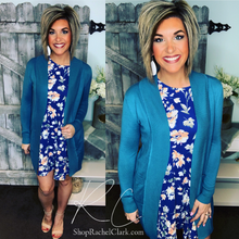 Load image into Gallery viewer, Dream Chaser Open Front Cardigan - Teal