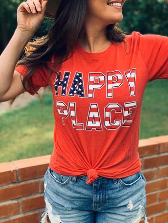 Happy Place Flag Graphic Tee