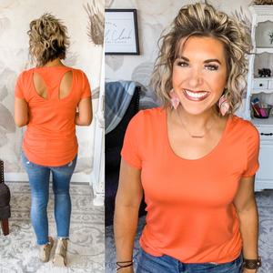 Party In the Back Tee - Tangerine