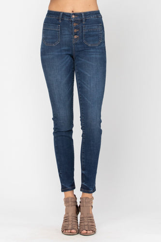 Judy Blue Patch Pocket Skinny Jeans