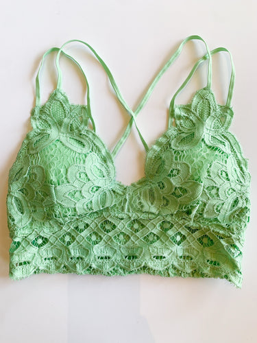 This is Love Lace Bralette - Pistachio