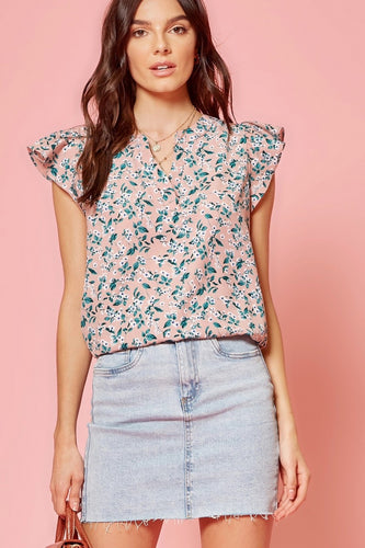 There's A Way Floral Top