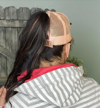 Load image into Gallery viewer, CC Brand - Glitter High Ponytail Ball Cap - Rose Gold