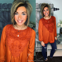 Load image into Gallery viewer, A Lace of Hope Blouse - Rust
