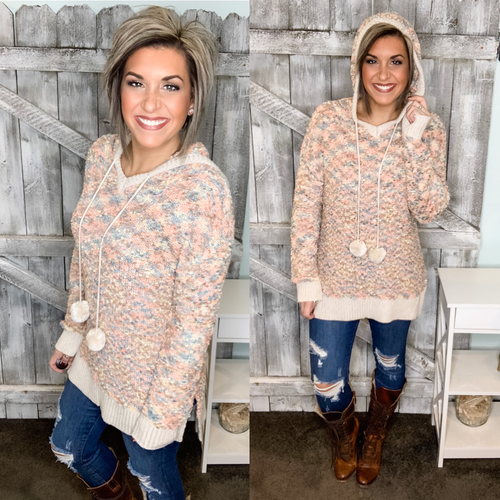 Endearing Soul Hooded Popcorn Sweater