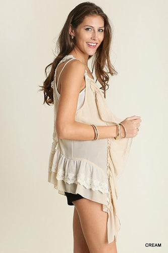 Keep You Forever Lace Vest - Cream