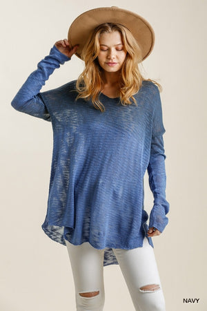 Bright Days Ahead Sweater - Navy
