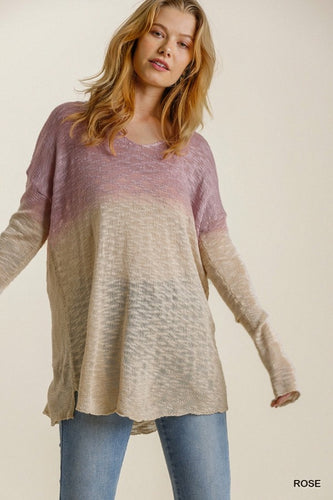 Bright Days Ahead Sweater - Rose