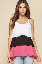 Load image into Gallery viewer, Happiest With You Tiered Tank - Hot Pink