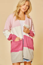 Load image into Gallery viewer, A Heart Beat Away Colorblock Cardigan