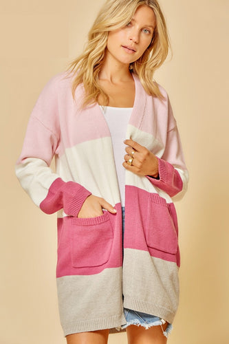 A Heart Beat Away Colorblock Cardigan