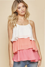 Load image into Gallery viewer, Happiest With You Tiered Tank - Coral