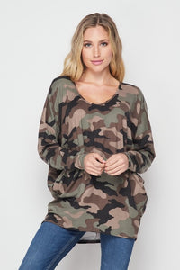 Search For Perfection Camo Dolman Top