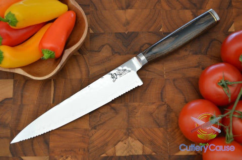 "Shun Premier 6 1/2"" Serrated Utility Knife - Cutlery for a Cause -  -  - 1"