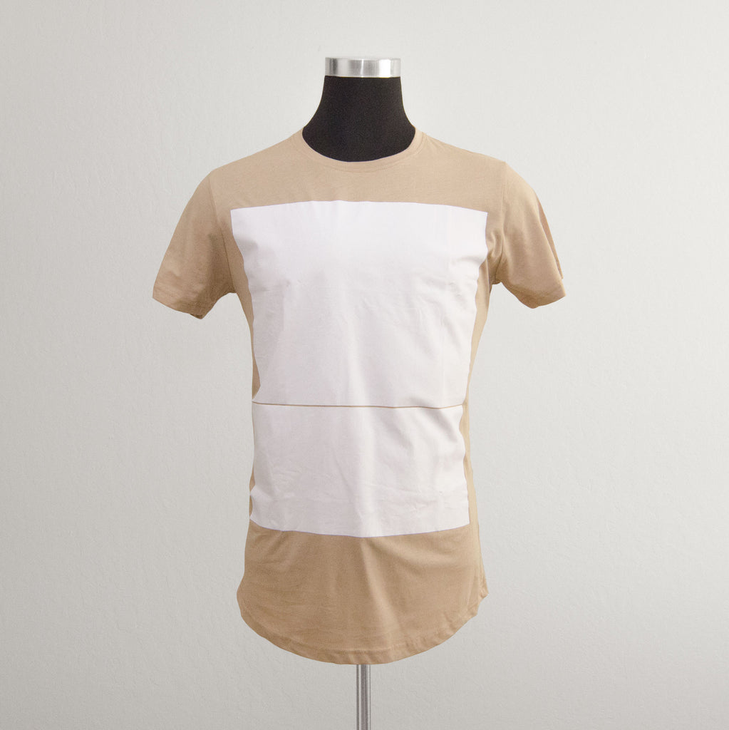 Paper Cut Tee in Tan