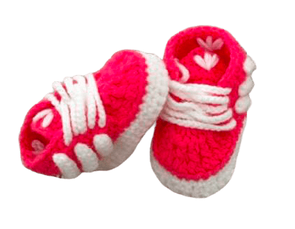 Pink Strawberry Baby Crochet Inspired by Adidas Shoes-Optional Hat - Crochet World Art