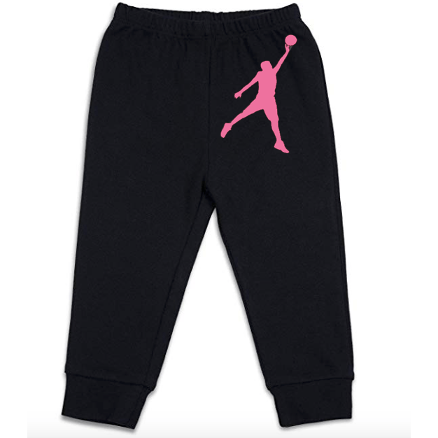 Pink Basketball Baby Pants [Black] - Crochet World Art